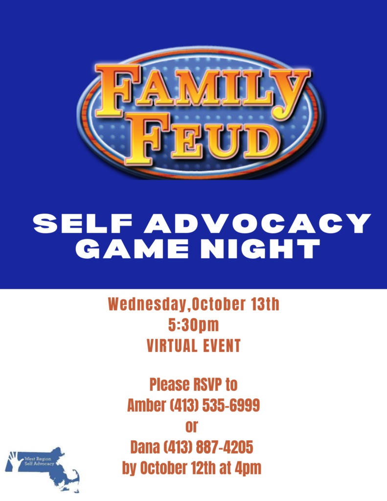 Next Self Advocacy Game Night is October 13th